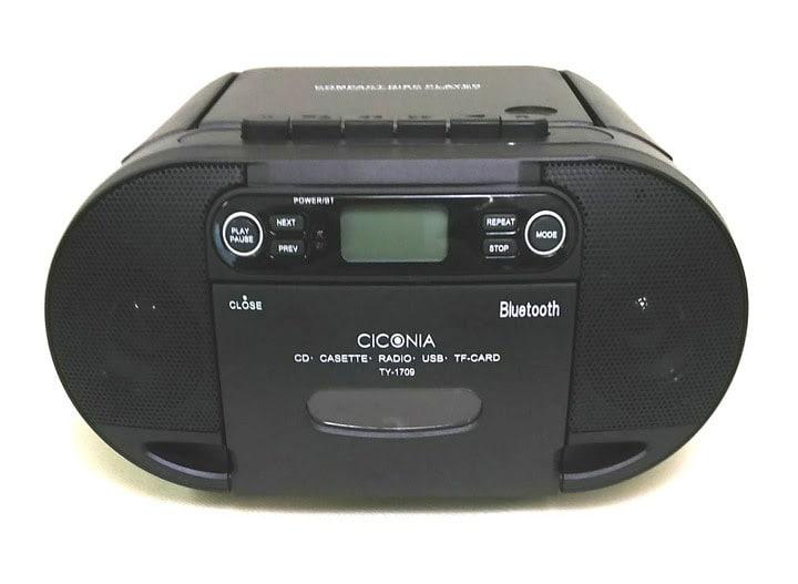 TY-1709 CD/ラジオ/カセットプレーヤー with Bluetooth