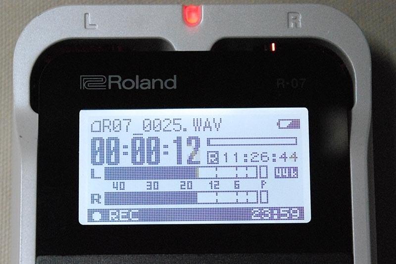 録音中の画面