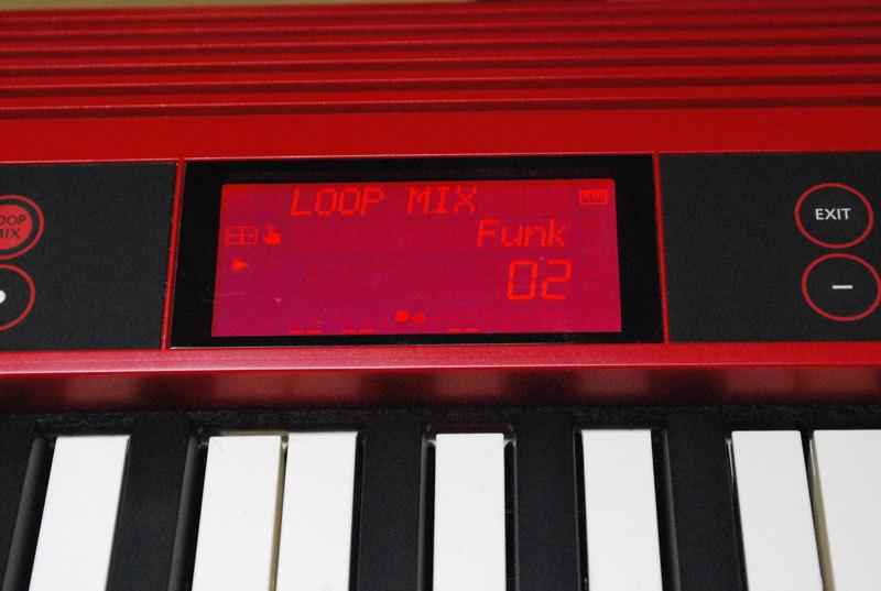 Loop Mixボタンを押すとループ・ミックス・モードに