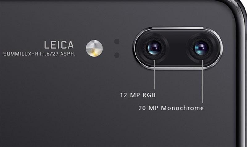 P20のカメラ部分