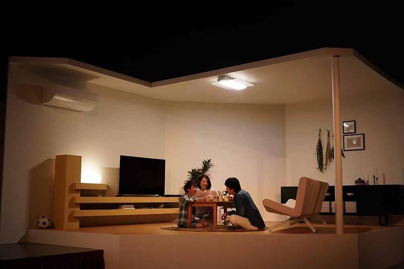 AIR PANEL LEDにより、利用シーンにあわせて明かりを調整