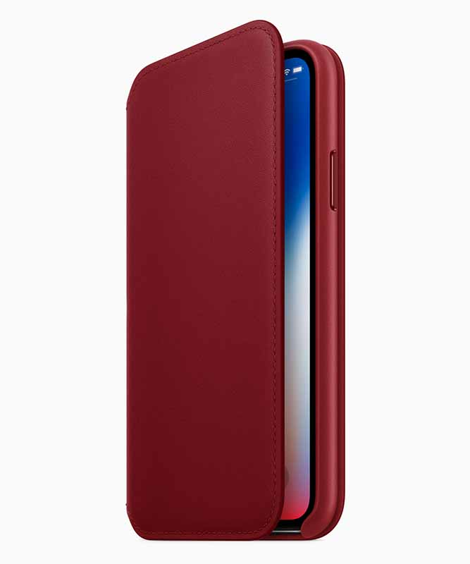(PRODUCT)RED iPhone Xレザーフォリオ