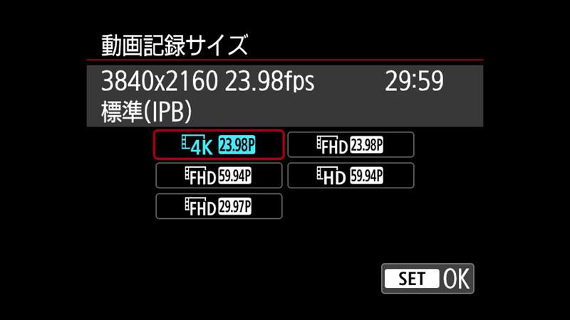 動画は4K/24p止まりなのが惜しい