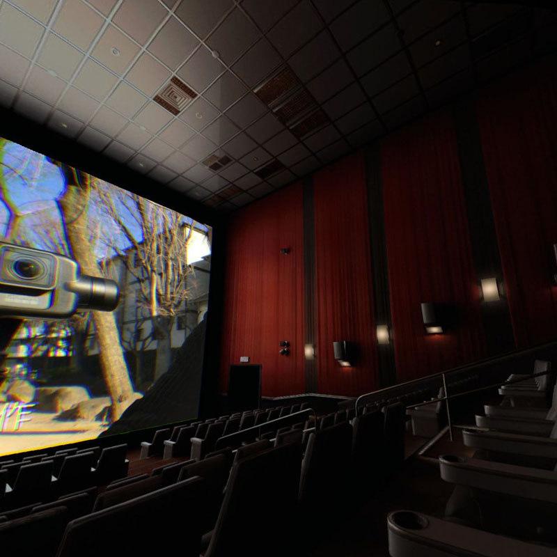 シートの感じも日本の映画館に近い
