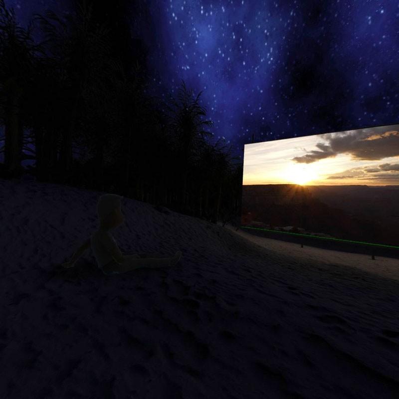 星空のビーチで視聴も