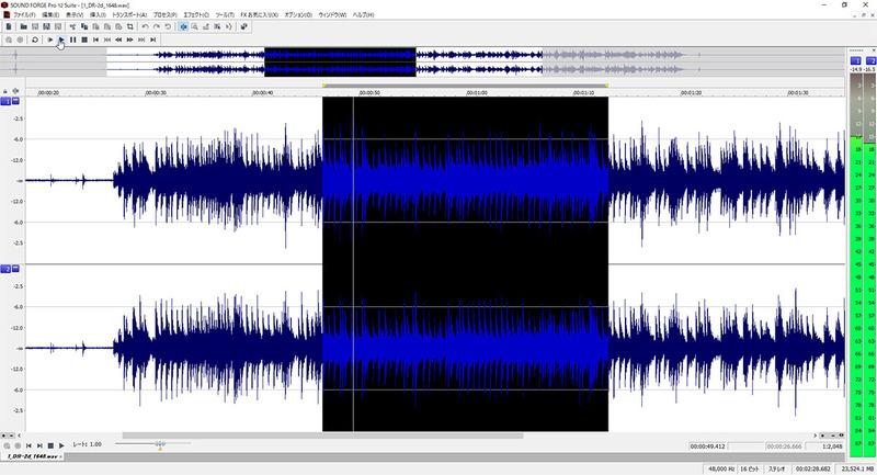 Sound Forge Pro 12の画面
