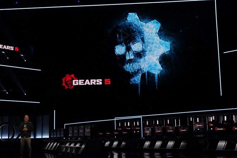 マイクロソフトの「Gears」シリーズ最新作「Gears 5」が発表に。この他、スピンオフしたスマホ向けゲームやストラテジーゲームも発表された