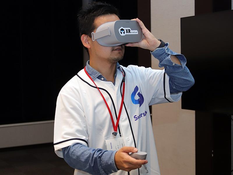 Oculus Goで「パーソル パ・リーグTV VR」を視聴
