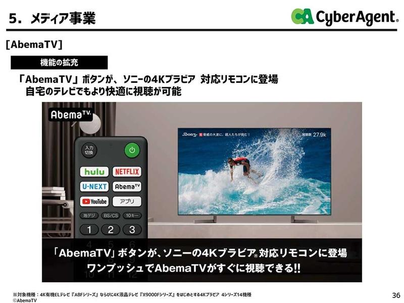 テレビリモコン対応を強化