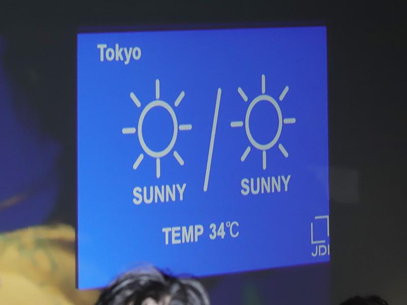 カレンダーや天気予報などを表示できる