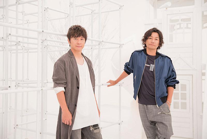 ポルノグラフィティの岡野昭仁(左)、新藤晴一(右)