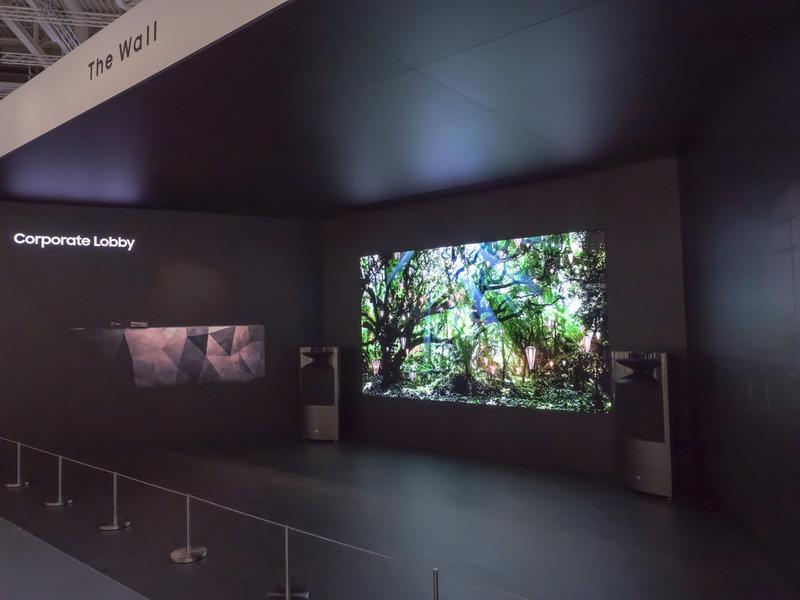 サムスンは今回のIFAで、映像に関する製品を相次いで発表している。8Kテレビの次に発表されたのは、マイクロLEDテレビ「The Wall」の欧州投入だった