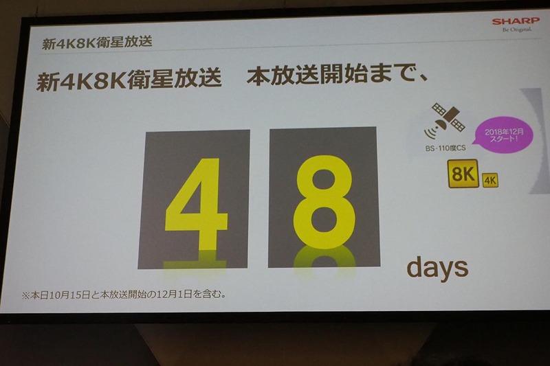 新4K8K衛星放送開始まで48日