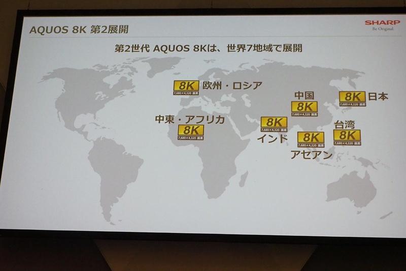 7地域でAQUOS 8Kを展開