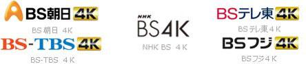 配信する新4K衛星放送のチャンネル