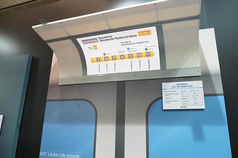 電車などの社内ディスプレイを想定した活用例