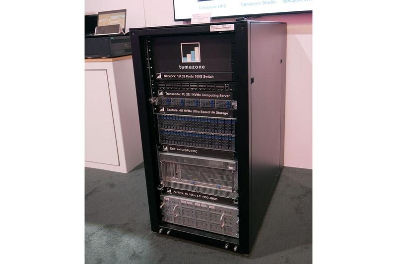 ブースでは、Temazoneの8Kデータマネジメントシステムを展示