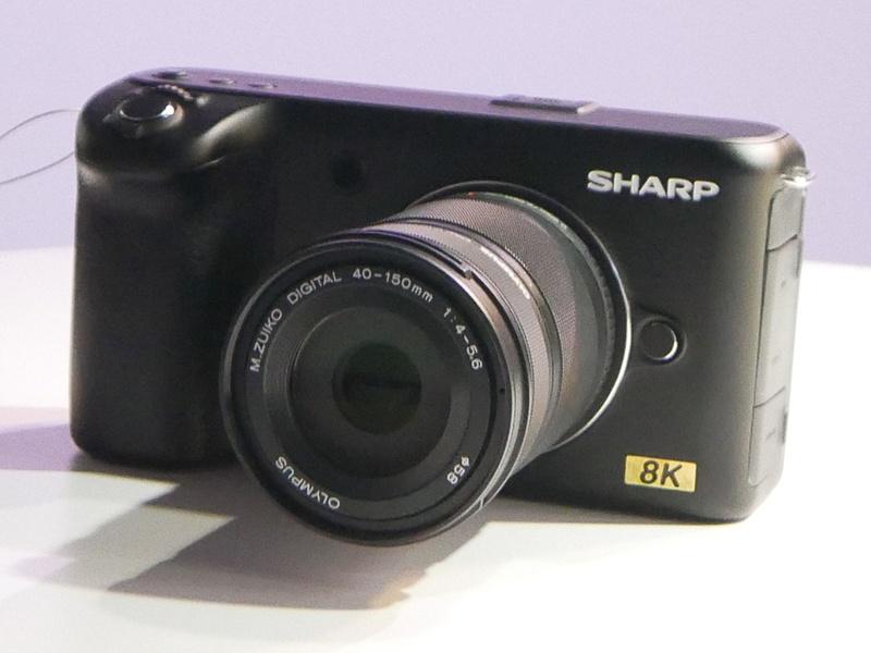 参考展示をしたコンシューマ向け8Kカメラ