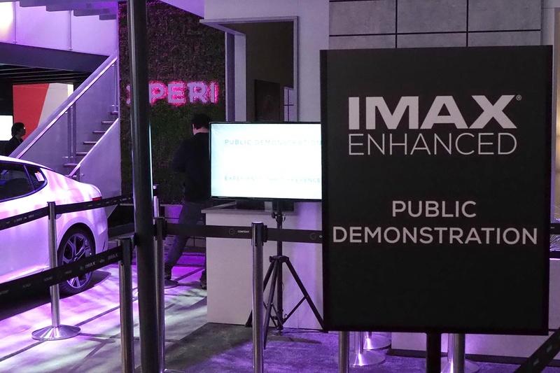 CES 2019のXPERIブースでIMAX Enhancedのデモを行ない、多くの人が来場
