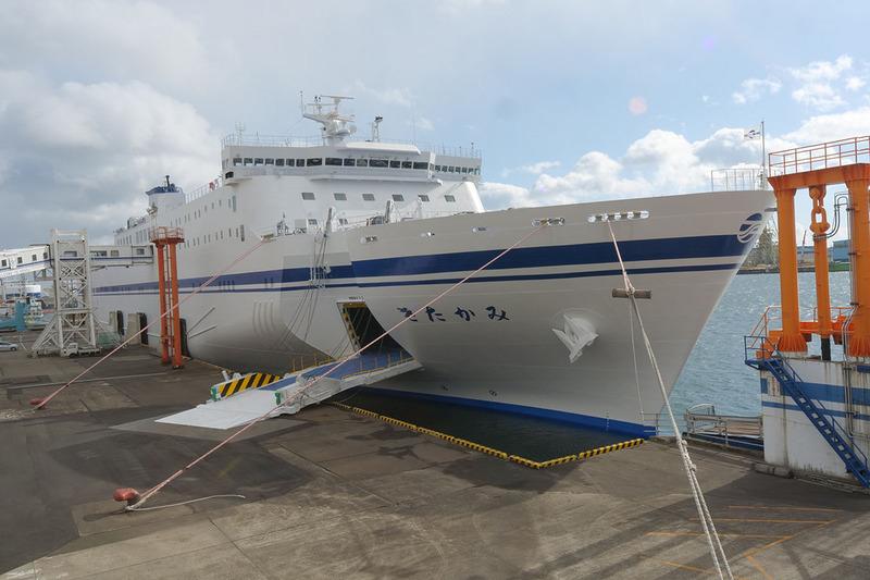 太平洋フェリーの新造船ニュー「きたかみ」