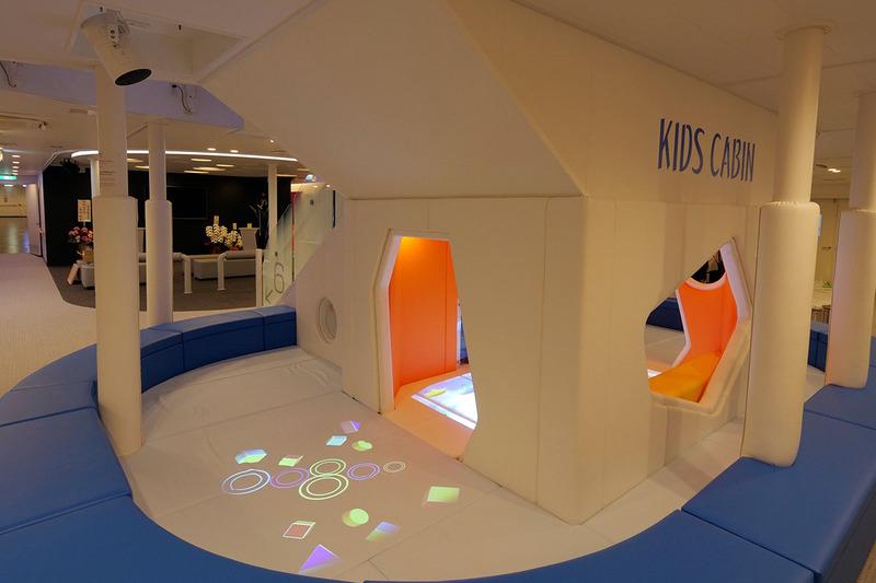 子どもの遊び場でもプロジェクション映像を活用