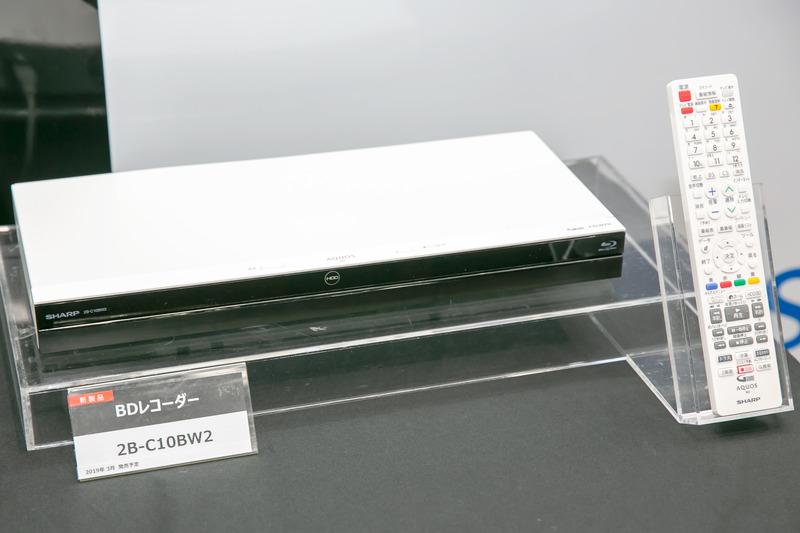 AQUOSブルーレイ「2B-C10BW2」(ホワイトモデル)