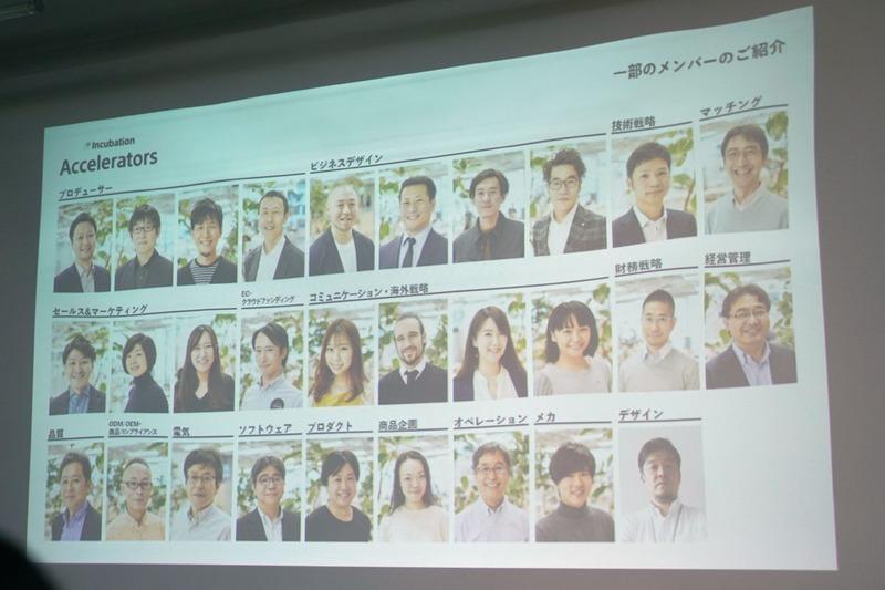 「Sony Startup Acceleration Program」を担当する一部メンバー