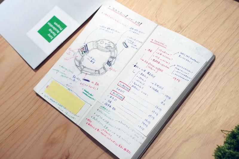 ノートのアイデアから生まれたwena wrist