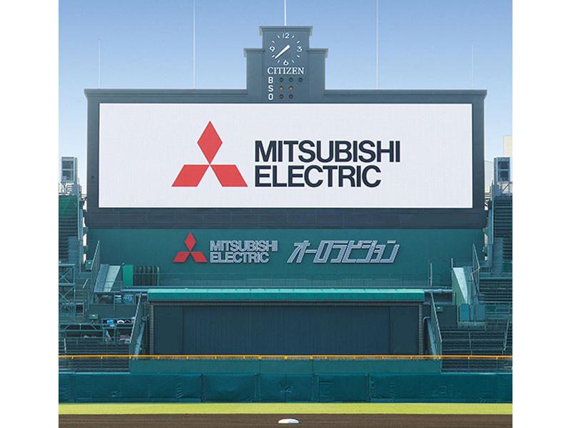 阪神甲子園球場に導入された新たな「オーロラビジョン」