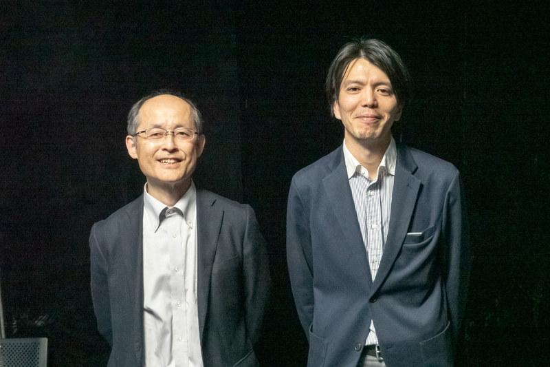 パナソニックの甲野和彦氏(写真左)とJVCケンウッドの中越亮佑氏(写真右)