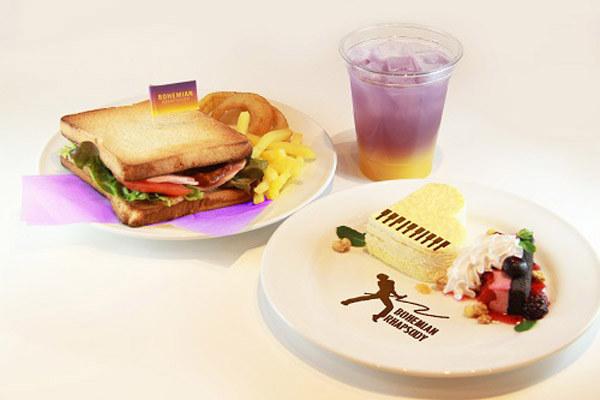 TOWER RECORDS CAFE 表参道店で開催されるコラボカフェのメニュー