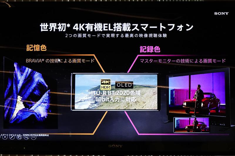スマホに4K HDR対応の有機ELディスプレイを、世界で初めて搭載