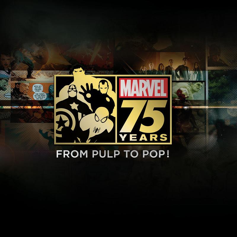 """マーベル75周年の軌跡 コミックからカルチャーへ!<br /><span class=""""fnt-70"""">(C)2014 ABC Studios & Marvel.</span>"""