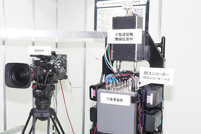 8Kワイヤレスカメラの送信部は重量が課題