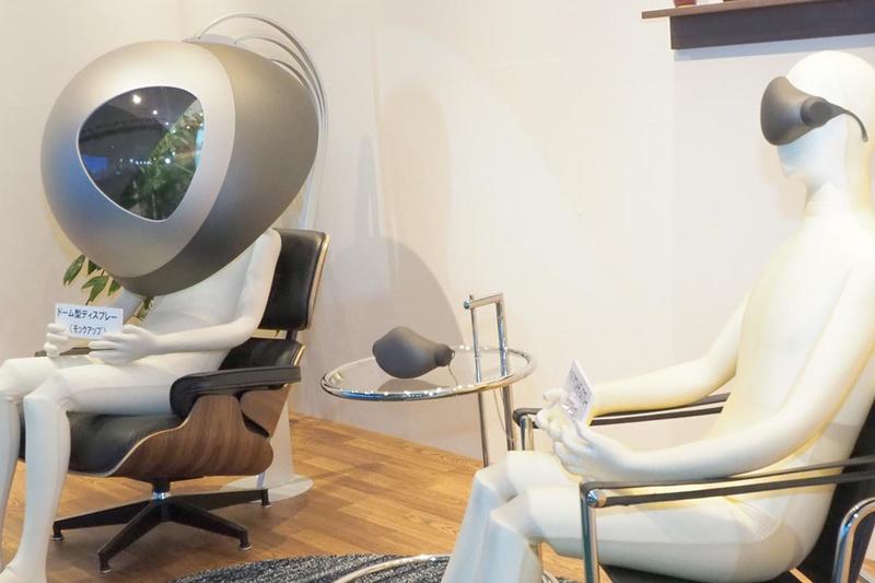 高精細VRのドーム型ディスプレイ(左)とヘッドマウントディスプレイ(右)のイメージ