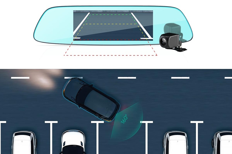 バック時に補助線を表示する駐車アシスト機能も