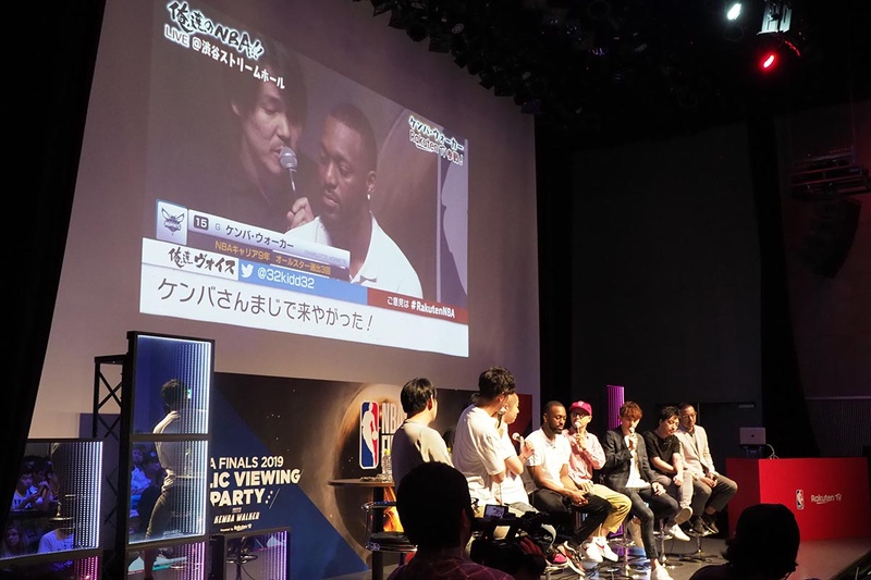 「俺達のNBA!!」の公開ライブ配信にケンバ・ウォーカー選手が登場