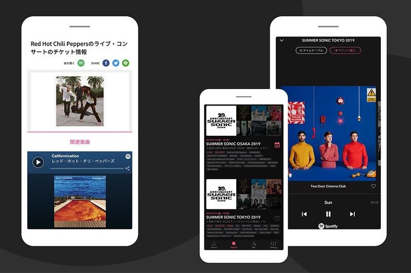 イープラスのサイトやアプリもSpotifyと連携