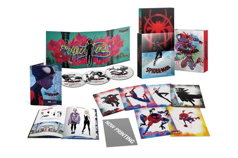 """「スパイダーマン:スパイダーバース」プレミアム・エディションの商品内容<br><span class=""""fnt-70"""">(C)2018 Sony Pictures Animation Inc. All Rights Reserved.</span>"""