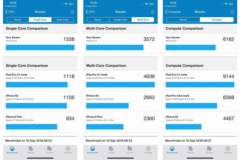 iPhone 11 Pro Maxのベンチマーク結果