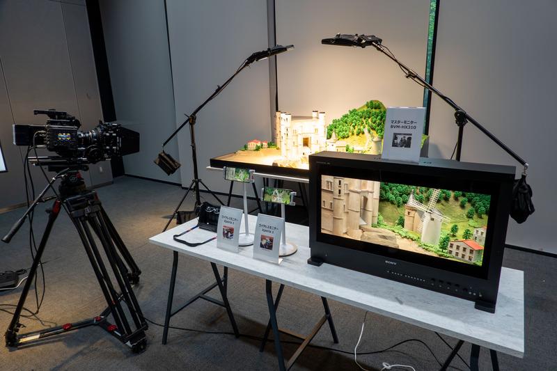 2台のXperiaにはHX310ライクな映像を表示可能