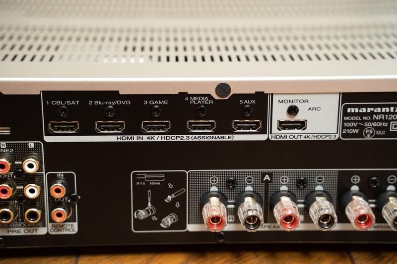 HDMI入力は5系統