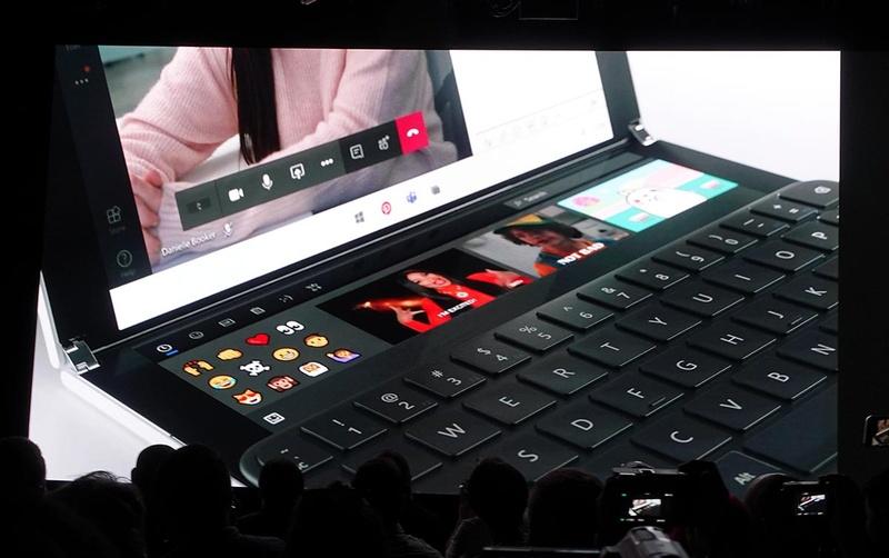 Windows 10 X上での「2画面の操作」を工夫して、使いやすさを向上している