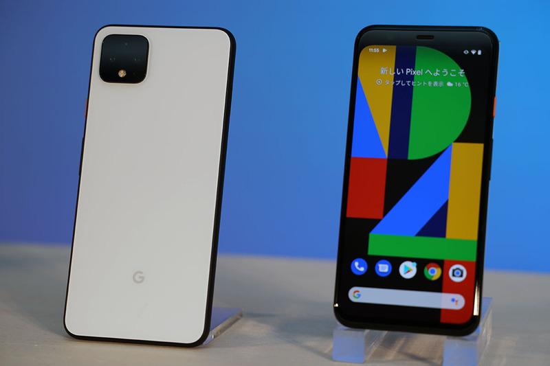 左から「Pixel 4 XL」「Pixel 4」