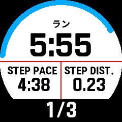 一定の時間や距離をゆっくり走ったり、本気で走ったりする