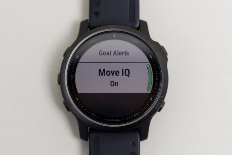 「Move IQ」機能はオンにしている。動きを監視してアクティビティを自動認識し、記録する機能だ