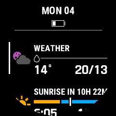 天気や最高・最低気温、日の出・日没時刻、方角をチェック