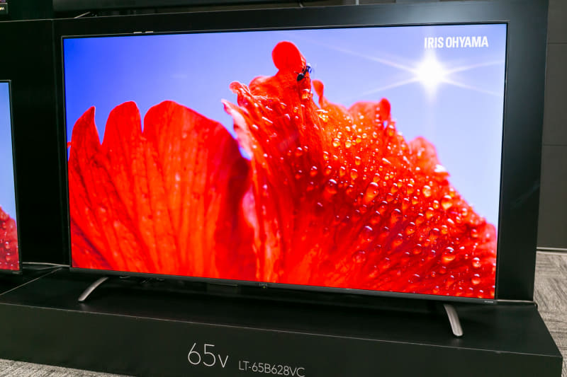 狭ベゼルモデルの65型4K対応テレビ「LT-65B628VC」