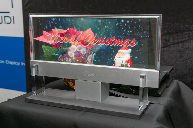 12.3型透明液晶ディスプレイのプロトタイプ