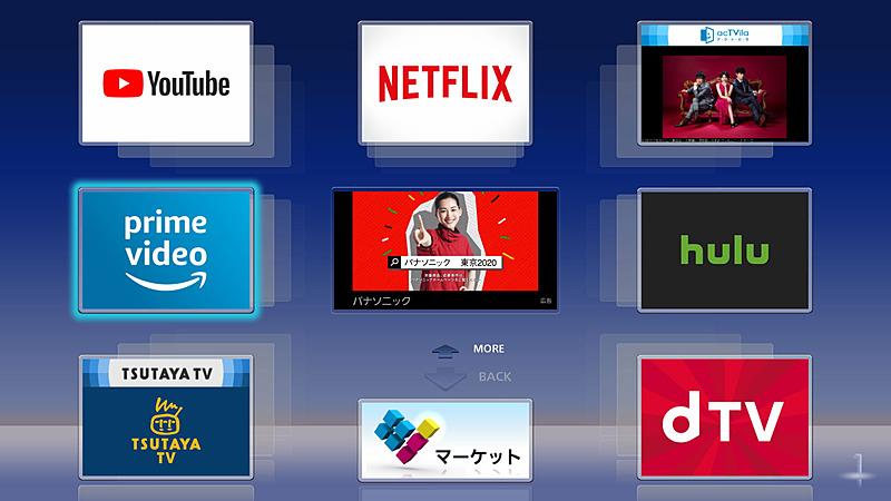 各種ネット動画サービスに対応